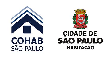 Logo da Cohab e da Secretaria Municipal de Habitação